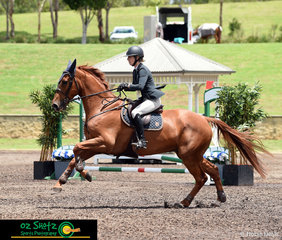 Sending it to the final fence of the Open 1.40 Jump Off to take the win was New Zealand rider, Katie Laurie and Esteban MVNZ at the Summer Show Jumping Classic.