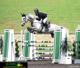 Making easy work of the fences in the NSW Futurity Series at the Summer Show Jumping Classic was James Hetherington's nomination, Killara Park Sentaro.