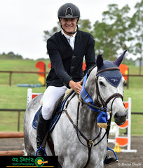 Winner of the 90cm Thoroughbred class was Johnny English ridden by Elliot Reeves at the Summer Show Jumping Classic held at Sydney International Equestrian Centre.