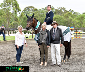 Day one of the Summer Show Jumping Classic at the Sydney International Equestrian Centre saw Yalambis Jadore awarded with the Oaks Sport Horse Meallion in the 4 year old division with Tom McDermott in the saddle.
