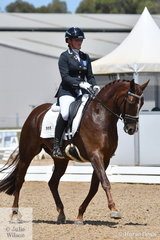 Tamara Campain rode the well presented Gowrie Park Cognac in the 6 yr old Young Horse Class.