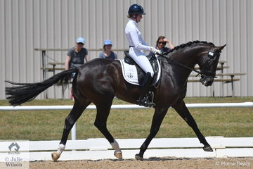 Maree Tomkinson rode here Totilas/Diamantina homebred mare, Total Diva, at her first competition and she  showed lots of promise in the 6 yr old Young Horse Class.