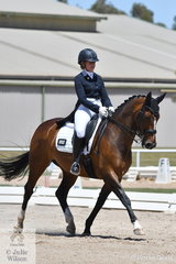 Sally Toulmin rode her Roxleigh Frangelica in the Advance 5.3.