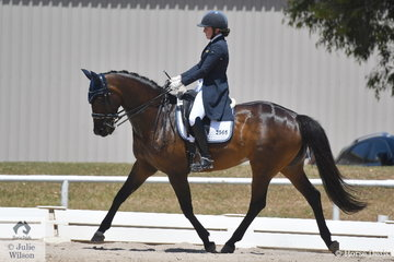 Clair Arnold riding Dolcima placed second in the Advanced 5.3.