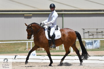Baxter  Arnold produced a nice test riding Heatherton Park Rapscallion to place second in the Advanced 5.2.