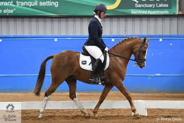 Rebecca Kent rode Karen Polley's successful, Murraydale Park Lewyn to third place in the Pony Preliminary 1.3.