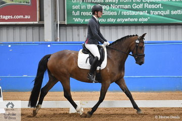 Michelle Mathlin rode her good moving, all round performance pony, Brookside Daisy to win the Pony Preliminary Championship.