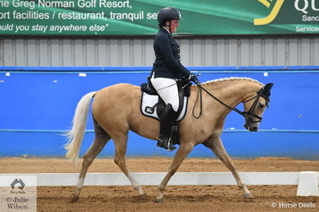 Rachel Morrison rode her Murraydale Park White Opal in the Pony Preliminary 1.3.