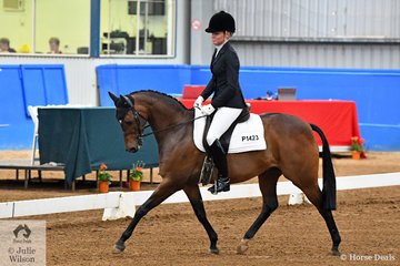 Well know hacking identity Melinda Ralph, produced a good test riding her homebred Champion show pony, Grand Piccolo to take third place in the Pony Preliminary 1.3.