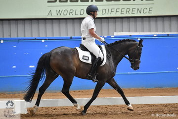 Successful pony dressage rider and producer Ann Smiley, rode her homebred, Lynlea Partytime to fifth place in the Pony Preliminary 1.3..