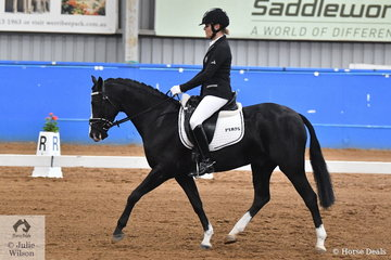 Cathryne Sykes riding her, Penley Barrister took second place in the Pony Preliminary 1.2.