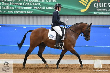 Holly Ticehurst rode Terra Felix XL to fourth place in the Pony Preliminary 1.2.