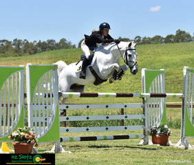 Jumping with a bit of scope, Alexandra Gostelow and her 9 year old Warmblood Tulara Cristo compete in the Super Junior Series on Friday at the Summer Show Jumping Classic.