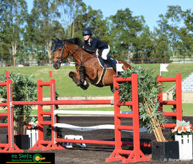 First out in the Young Rider Series Qualifier class was Jess Rice-Ward and Dusky Farm Cavalier jumping in a time of 64.16 and a clear round at the Summer Show Jumping Classic at the Sydney International Equestrian Centre.