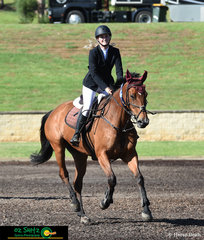 Winner of the first round in the Young Rider Series, Jessica Tripp and Diamond B Verona jumped clear round with a time of 59.90 at the Summer Show Jumping Classic.