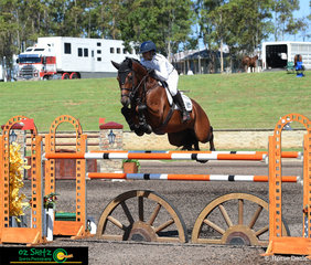 Making light work of the Equestrian NSW 1.50m class was CP Aretino and current Australian Champion, Amber Fuller at the Summer Show Jumping Classic.