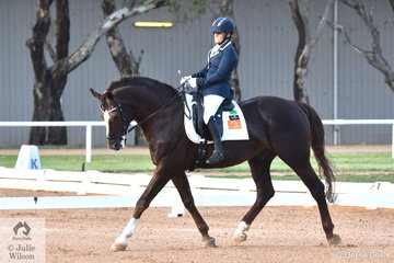 Para Olympic Gold medallist, Joann Formosa rode her wonderful, Worldwide PB to win the Para Team Test Grade II with 70 %.