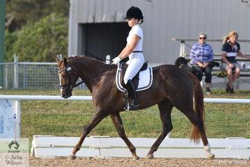 Natasha Moody riding Penmain Prada took 4th place in the 4 year old class.