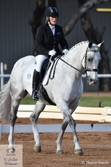 Elizabeth Skinner rode her delightful Freedom Spyda to second place in the Para Team Test Grade III.