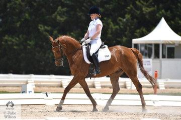 Jane Toohey rode Flynstone in the Novice 2.2.