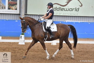 Kate Purcell and Barrabadeen Grandeur competed in the Werribee Isuzu & Longvue Prix St George.