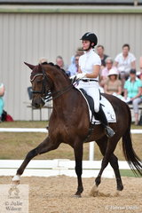 Rebecca Woff rode her Jazzari to sixth place in the FEI Grand Prix.