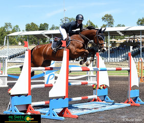 Competing in the Young Rider Second Qualifier Round aboard Kolora Stud Optimus was Jamie Priestley at the Summer Show Jumping Classic at the Sydney International Equestrian Centre.