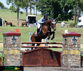Jumping a clear round with a time of 74.56, Erin Buswell and Quero Quero place fifth in the second qualifier of the Young Rider Series at the Sydney Summer Show Jumping Classic.
