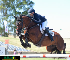 It was high knees all the way to the final fence for CP Aretino and Amber Fuller in the Sydney Show Jumping Summer Classic World Cup jump off.