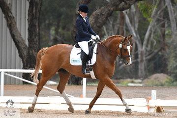 Georgina Barrey riding Saffire I placed fourth in the Participation Preliminary 1.1.