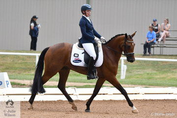 Fiona Guthrie riding Fairbanks Usher took third place in the 5 yo Young Horse class.