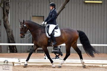 Georgina Birrell rode De Naerys to win  the Participation Preliminary 1.1.