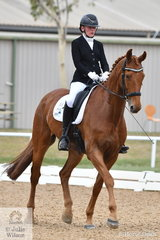 Phoebe Roche riding Saddle Up Romper Stomper took second place in the Para Equestrian Grade IV Team Test.