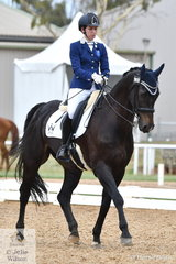 Zoe Vorenas rode Little Brave to win  the Para Equestrian Grade IV Team Test.