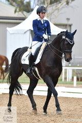 Zoe Vorenas rode Little Brave to win  the Para Equestrian Grade IV Team Test.