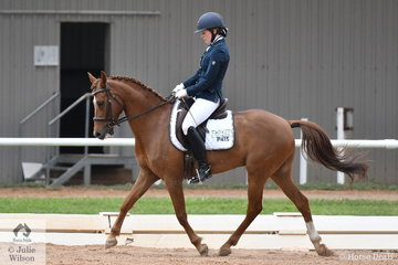 Lauren Wilson rode Goldmine Trilogy in the ASPR Pony Elementary.