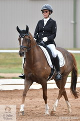 Deborah Hamid riding Beauparc Swayze took second place in the ASPR Pony Elementary 3.2 and 3.3.