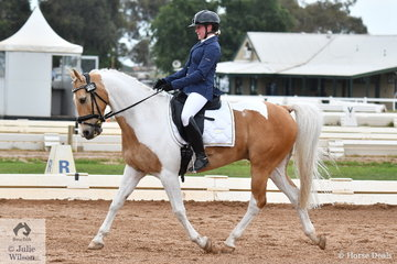 Louisa Inge and the good moving Road To Jamieson placed third in the ASPR Pony Elementary 3.2.