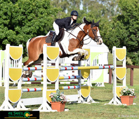 Competing in the 1.20m class on Sunday both Coco Dulhunty and Wallaroo Carnival looked very sharp over the fences at the Summer Show Jumping Classic.