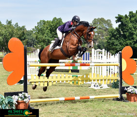 Dual Olympian Vicki Roycroft had her young horse Cassius Khan in the 1.20m class on Sunday and rode a faultless round witha time of 73.92 to take out third place at the Sydney Summer Show Jumping Classic.