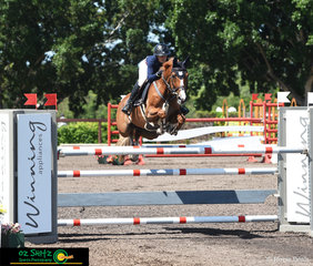 Flying over her own fence in the Futurity Series Final was Jamie Winning-Kermond and she rode Kirrkala Pippi Longstockings at the Summer Show Jumping Classic held at the Sydney International Equestrian Centre.