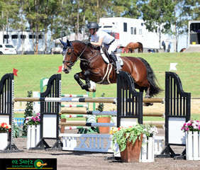 The thirteenth combination out to compete in the Futurity Series Final sponsored by Winning Appliances was Oliva Hamood and Dada Des Brimbelles Z at the Summer Show Jumping Classic held at the Sydney International Equestrian Centre.