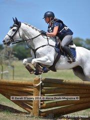 "Tonia Shave in the Open Grade 1 riding ""Darwin PArk Snowfall"""