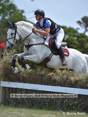 Kyle Kroeger placed 2nd in the Pony Club Grade 2 riding Platinum Fire, with a final score of 72