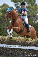 "Ashleigh Urry in the Open Grade 2 riding ""Irish Flynnagin"""