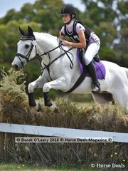 "Grace Symes in the Open Grade 2 section riding ""Cisco Kid"""