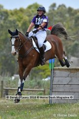 """Paula Pilkington placed 2nd in the Open Grade 2 riding """"WG Splashofcolour"""" with a final score of 67"""
