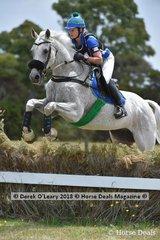 """Vicky White in the Open Grade 2 riding """"Desert Master"""""""