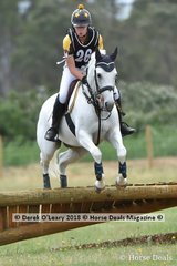 "Winner of the Pony Club Grade 3 , Jasmin Walters riding ""Warrenwood Signature"" with a winning score of 36"