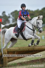 """Abbey McLeod in the Pony Club Grade 3 riding """"Clyde's Little Lady"""""""